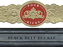 Crowned Heads Four Kicks Black Belt Buckle, Sublime (Toro)