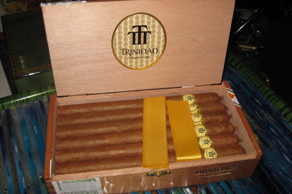 A box of Cuban Trinidad Fundadores