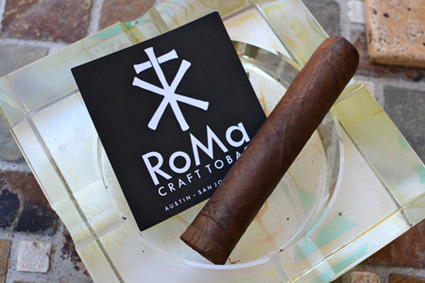 RoMa Craft logo with cigar